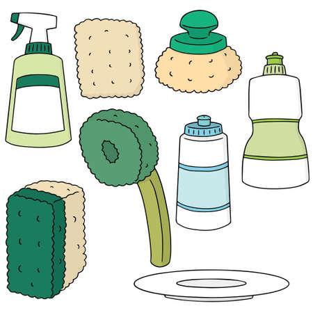 antiseptic: set of dish washing equipment