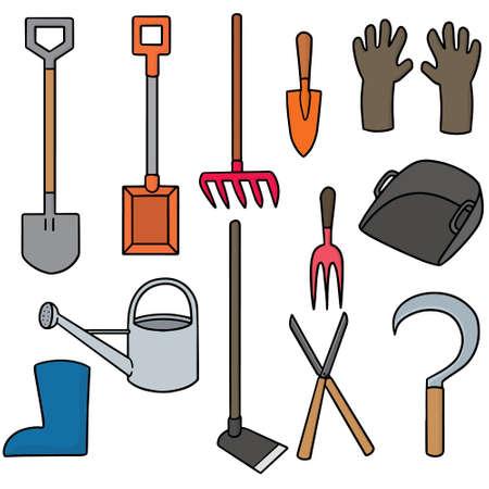 gardening  equipment: set of gardening equipment Illustration