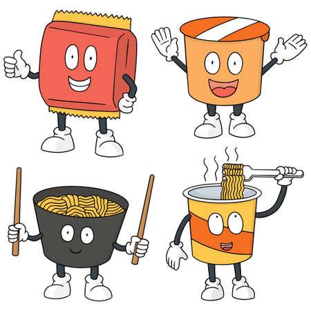 Vektor-Satz von Nudel Cartoon Standard-Bild - 60829081