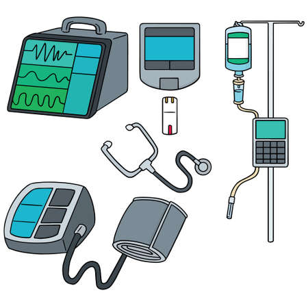 vector set of medical device  イラスト・ベクター素材