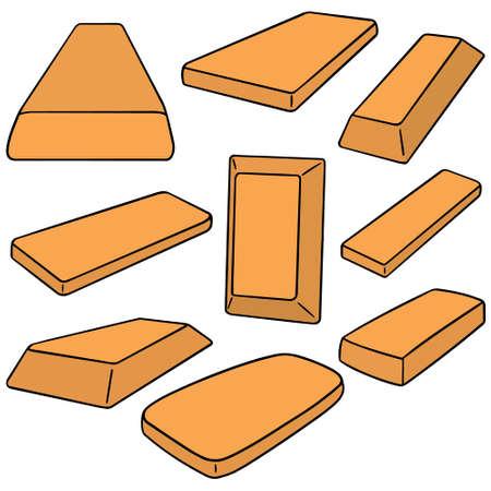 bullion: vector set of gold bullion