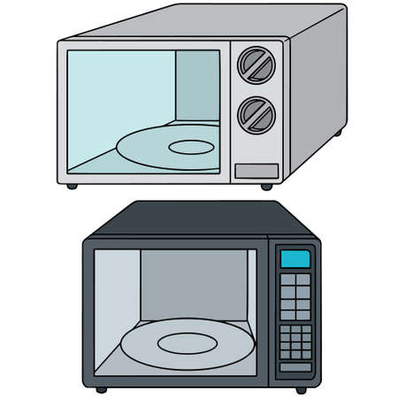 microwave oven: vector set of microwave oven