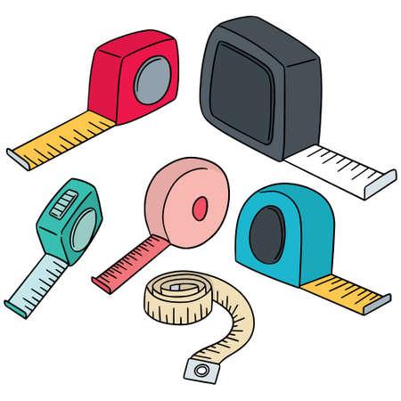 conjunto de vectores de la cinta de medición
