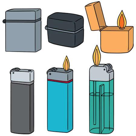 lighter: vector set of lighter Illustration
