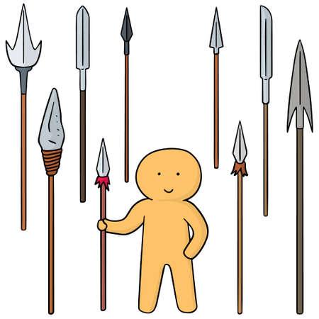 spear: vector set of spear