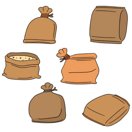 sacks: vector set of sack Illustration