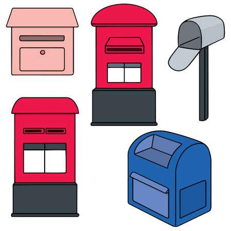 metal mailbox: vector set of postbox Illustration