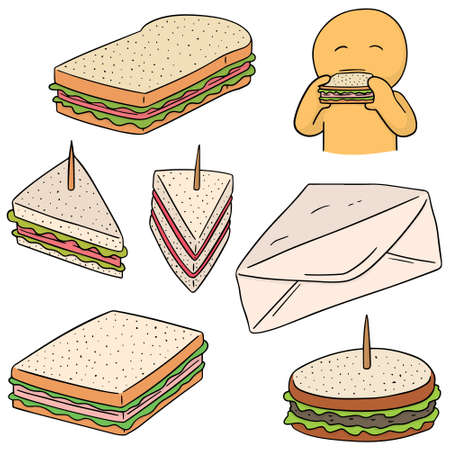 toothpick: vector set of sandwich