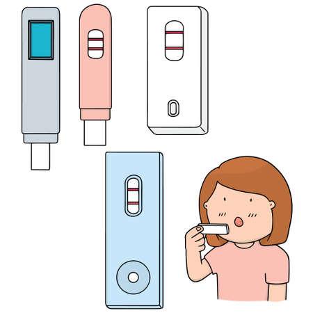 maternal: vector set of pregnancy test Illustration