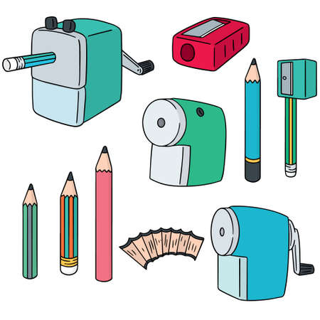 vector set of pencil sharpener Illustration