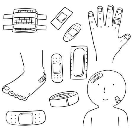 plaster: vector set of medical plaster Illustration