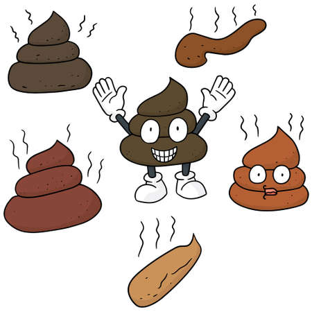 vector set of poop