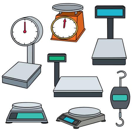 balanza de laboratorio: vector conjunto de máquina de pesaje