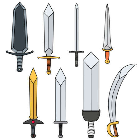 longsword: vector set of sword Illustration