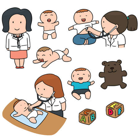 vector set of doctor Illustration