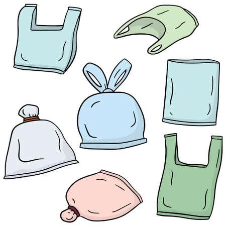 vector conjunto de bolsa de plástico