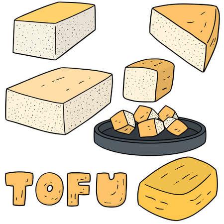 vector set of tofu 일러스트