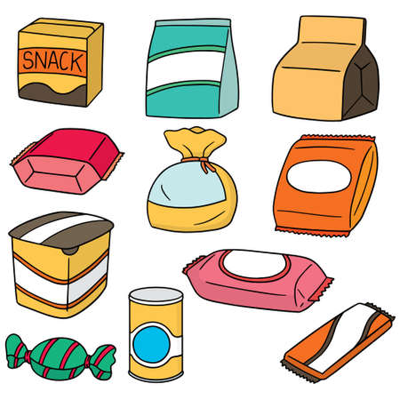 vector set of snack  イラスト・ベクター素材