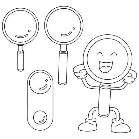 metal legs: vector set of magnifying glass Illustration