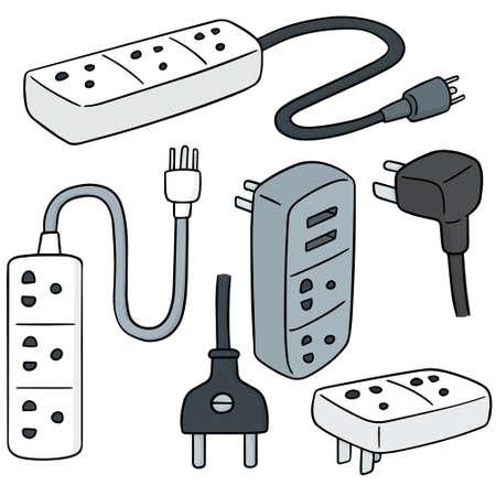 plugs: vector set of plugs