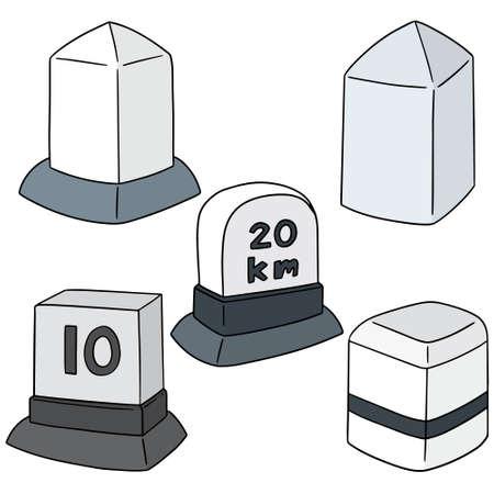 vector set of milestone