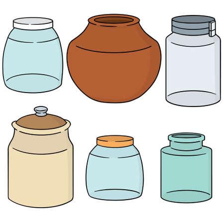 food preservation: vector set of jar Illustration