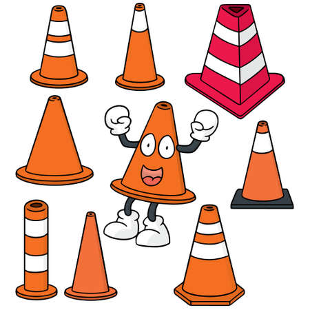 boundary: vector set of traffic cone