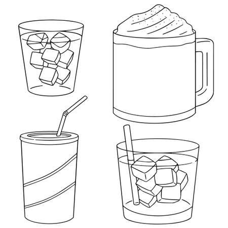 iced: vector set of iced coffee