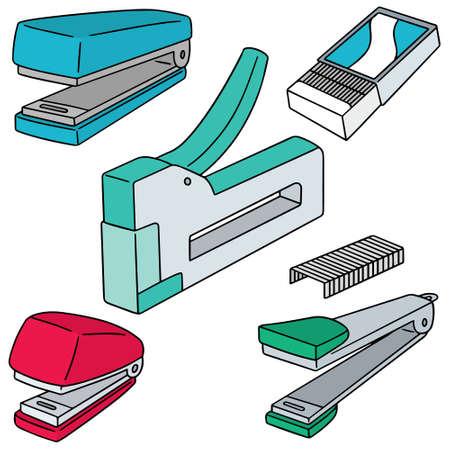 grapadora: vector conjunto de grapadora