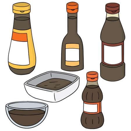 fish sauce: vector set of fish sauce