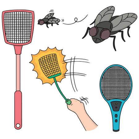 vector set of flyswatter
