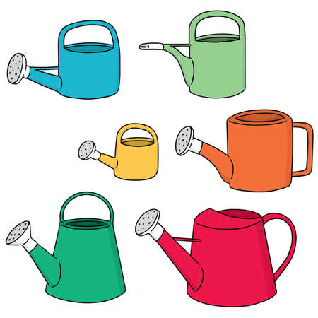 vector set of watering can Illustration