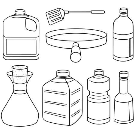 vector set of vegetable oil  イラスト・ベクター素材