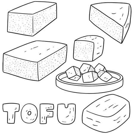 tofu: vector set of tofu Illustration