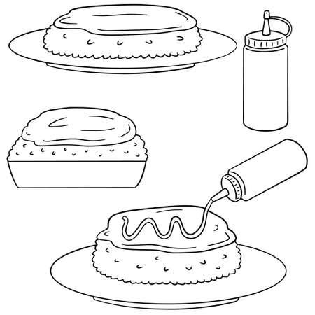 Vektor-Satz von Omelett Reis