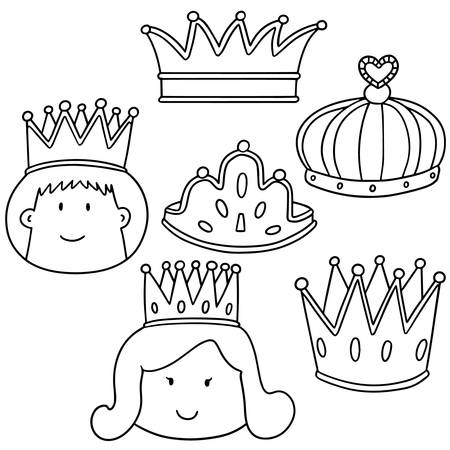 vector set of crown