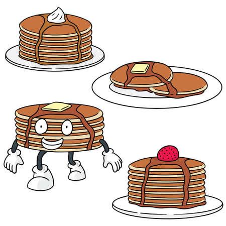 pancake: vector set of pancake Illustration