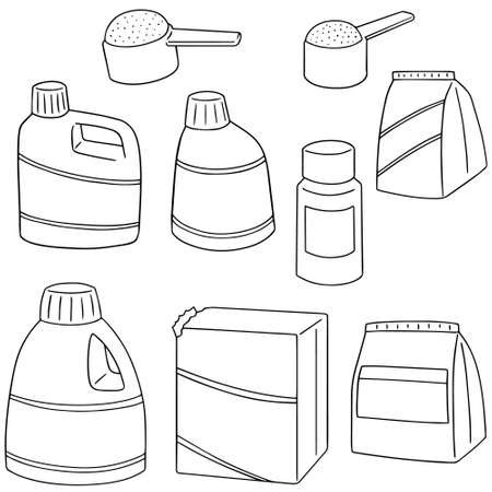 detergent: vector set of detergent