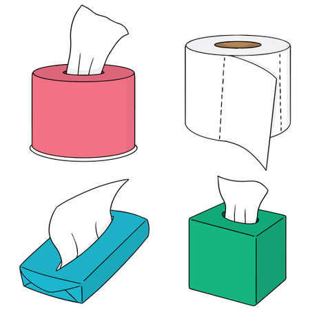 vector set van papieren zakdoekje