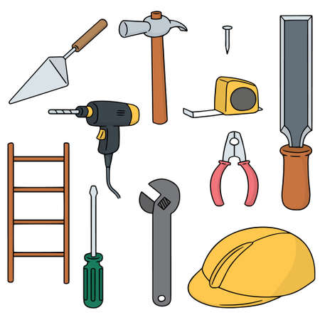 wirecutters: vector set of construction tool