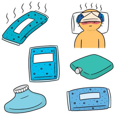 vector set of cold pack Illustration