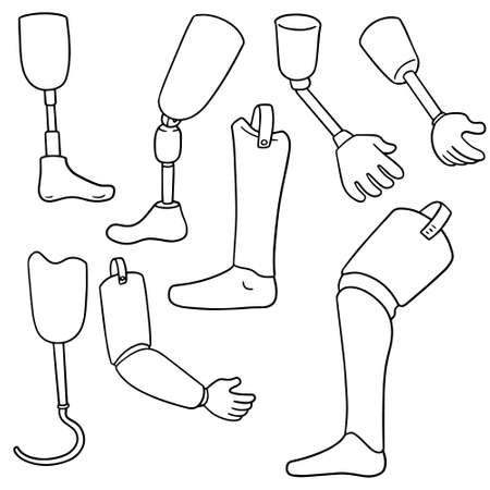 vector set of artificial limb