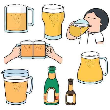 beers: vector set of beers Illustration