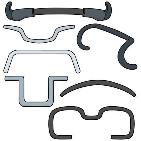 handlebar: vector set of bicycle handlebar