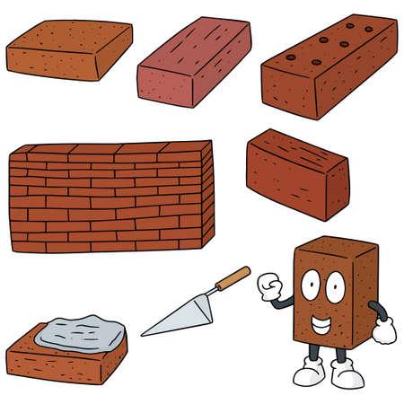 vector set of brick