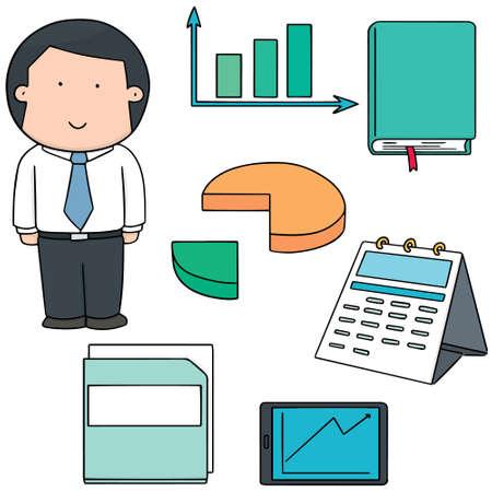calandar: vector set of businessman and business icon Illustration