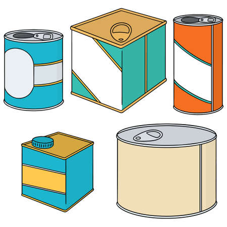 canned drink: vector set of can