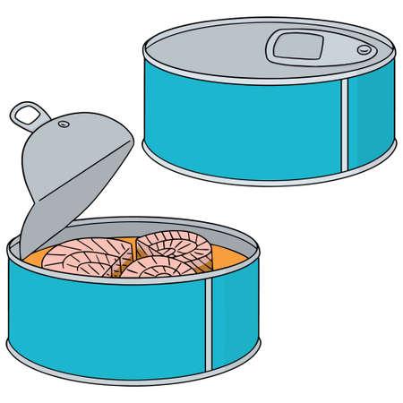 vector set di pesce in scatola