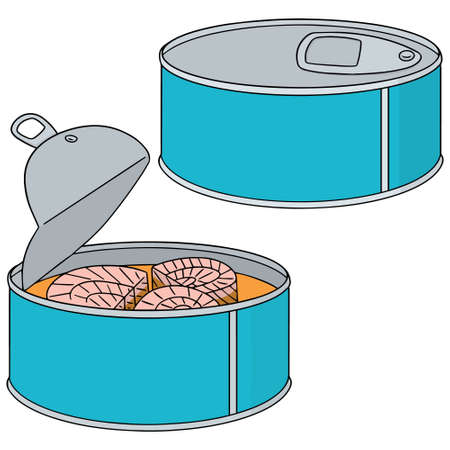 canned: vector set of canned fish