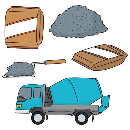 carretilla de mano: conjunto de vectores de cemento Vectores